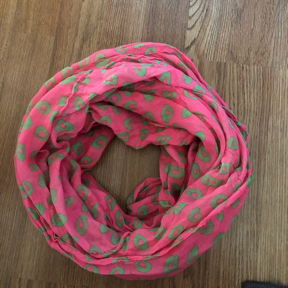 e0fc64b2fe654 Charlotte Russe Accessories   Pink Green Animal Print Infinity Scarf ...